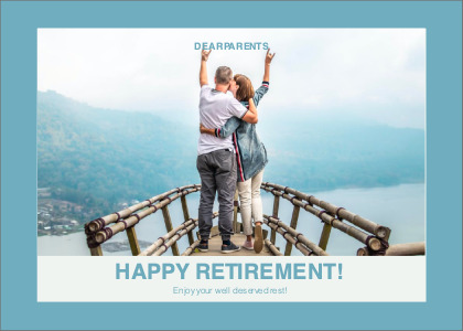 happyretirement card 3 person people