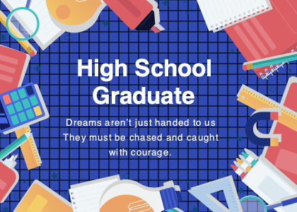 highschool card 1 text poster