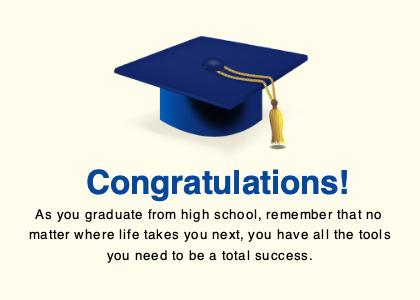 highschool card 5 graduation text