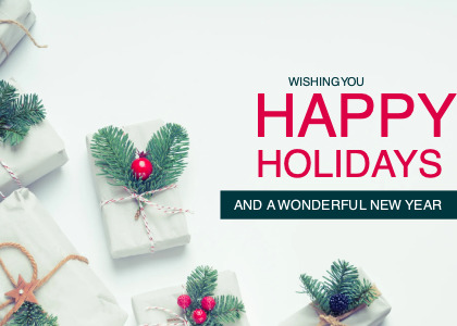 holiday card 1 tree plant