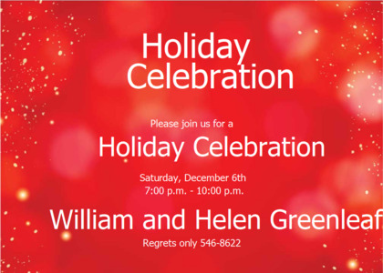 holiday card 11 flyer poster