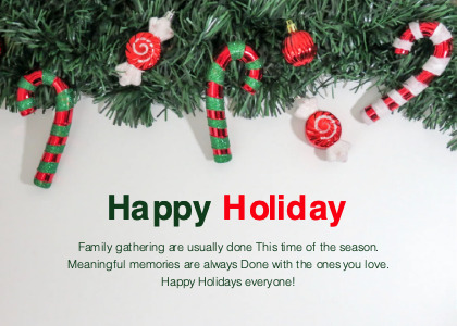 holiday card 4 tree plant