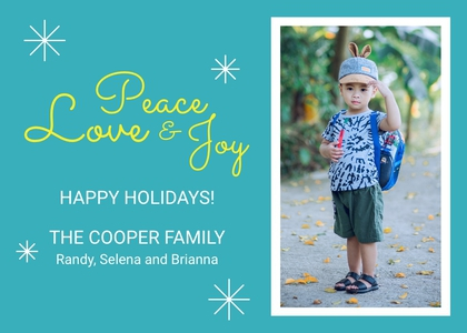 holiday card 7 clothing person