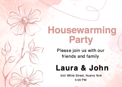 housewarming card 3 floraldesign graphics