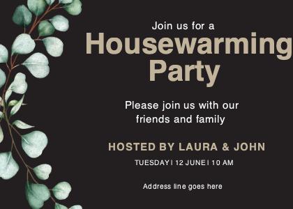 housewarming card 5 advertisement poster