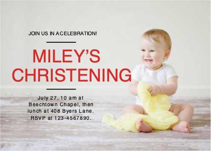 invitation card 12 person baby