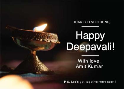 invitation card 17 fire diwali