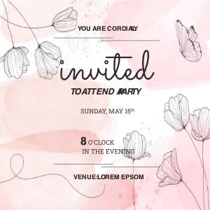 invitation card 9 drivinglicense text