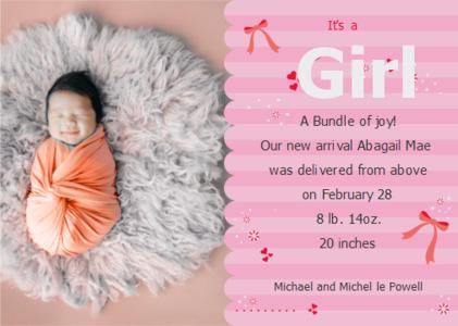 joy card 12 newborn person