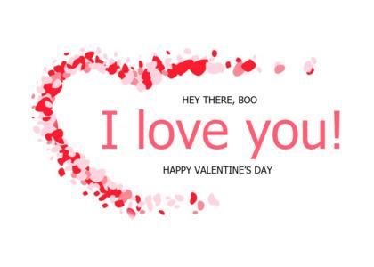 love card 15 paper confetti