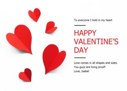 love card 6 paper heart
