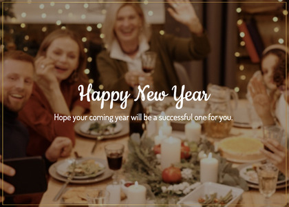 newyear card 104 person indoors