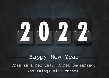 newyear card 13 number text