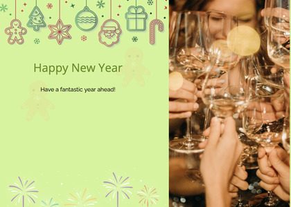 newyear card 136 glass person