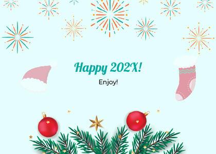 newyear card 171 tree plant