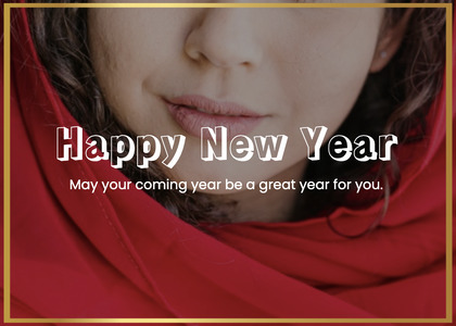 newyear card 215 face person