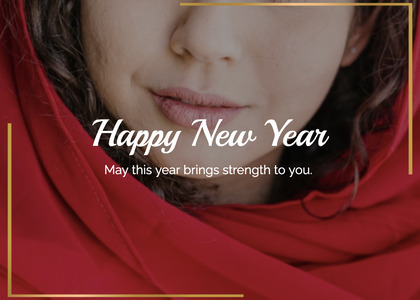 newyear card 220 face person