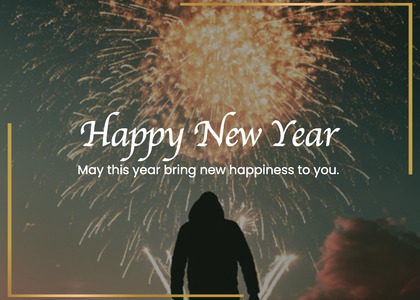 newyear card 224 person nature