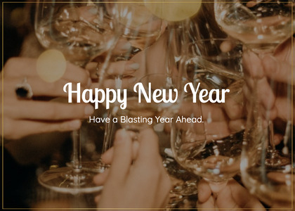 newyear card 227 glass person