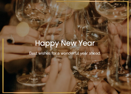 newyear card 26 glass person