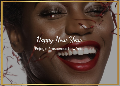 newyear card 66 face person