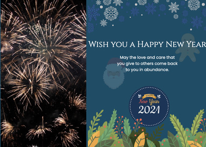 newyear card 71 nature outdoors