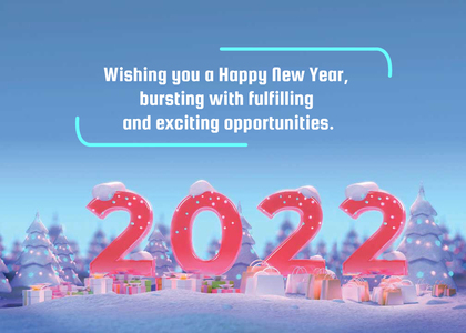 newyear card 8 number text