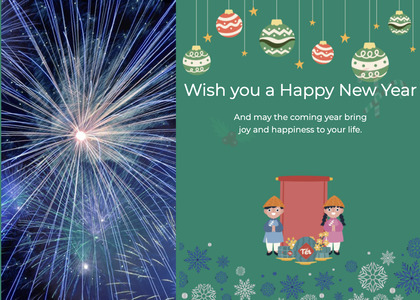 newyear card 81 nature outdoors