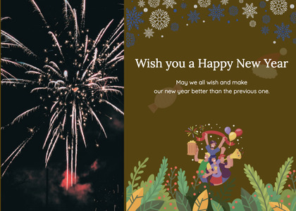 newyear card 93 nature outdoors