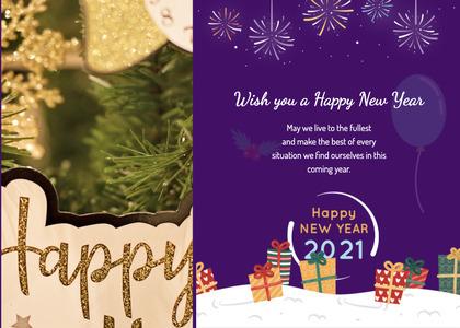 newyear card 94 envelope advertisement