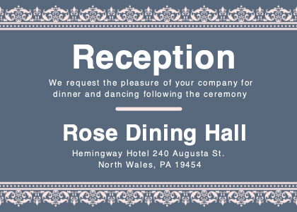reception card 4 text paper