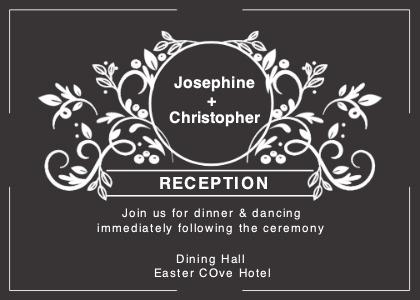 reception card 5 advertisement poster