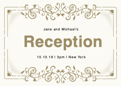reception card 8 floraldesign graphics