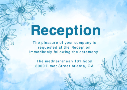 reception card 9 graphics art