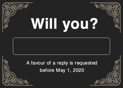 respond card 1 text number