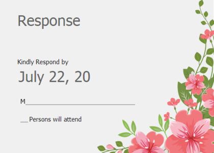 respond card 10 floraldesign graphics