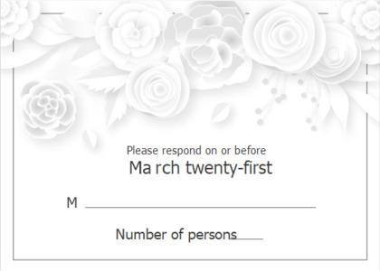 respond card 12 text graphics