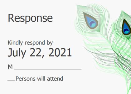 respond card 14 text graphics