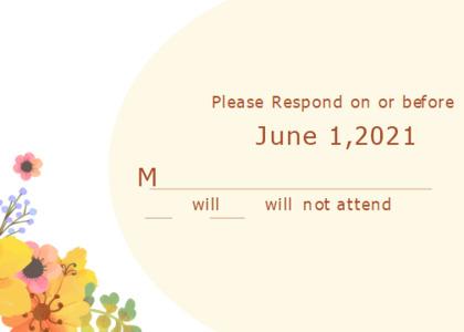 respond card 7 text floraldesign