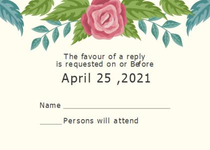 respond card 8 text floraldesign