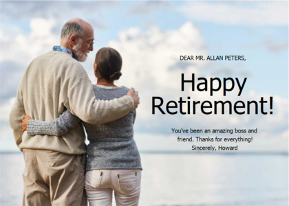 retirement card 11 person human