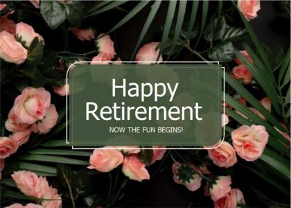 retirement card 12 plant rose