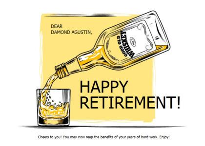retirement card 6 liquor alcohol