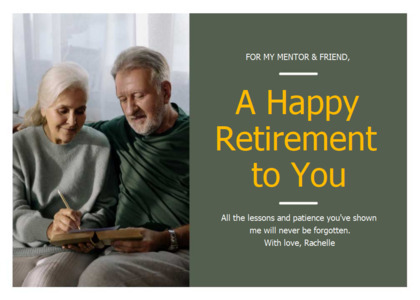 retirement card 8 person people