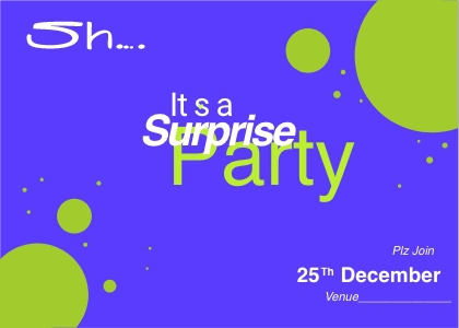 surpriseparty card 5 text graphics