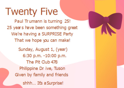 surpriseparty card 6 flyer text