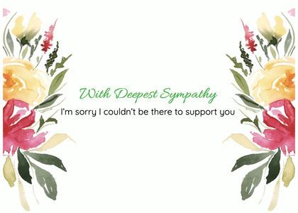 sympathy card 104 plant flower
