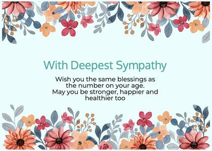 sympathy card 105 paper flyer