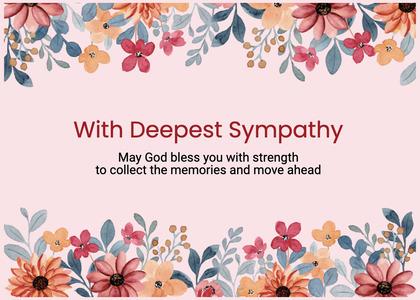sympathy card 106 flyer paper