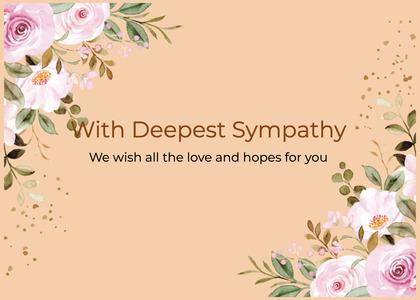 sympathy card 107 graphics art